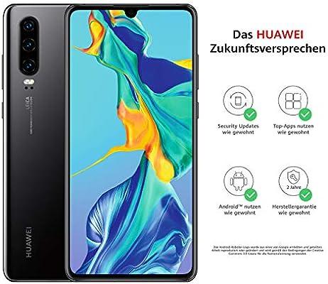 Huawei P30 - Smartphone (Dual SIM), color negro [Versión alemana ...
