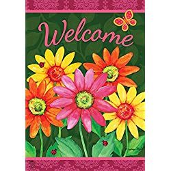 "Briarwood Lane Welcome Daisies Spring Garden Flag Floral 12.5"" x 18"""