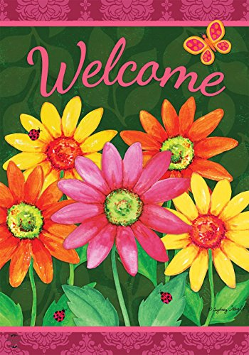 - Briarwood Lane Welcome Daisies Spring House Flag Floral 28