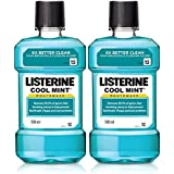 Listerine Cool Mint Mouthwash - 500 ml (Pack of 2)