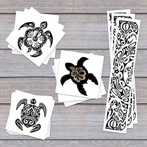 Turtle Trio Pack Temporary Tattoos | Skin Safe | MADE IN THE USA| Removable -