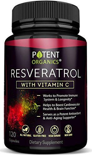 Extra Strong Resveratrol 1150mg - Anti-Aging Antioxidant Supplement - Promotes Immune & Cardiovascular Health - 120 Veggie Capsules with Trans Resveratrol, Vitamin C & Moringa - 100% Money Back
