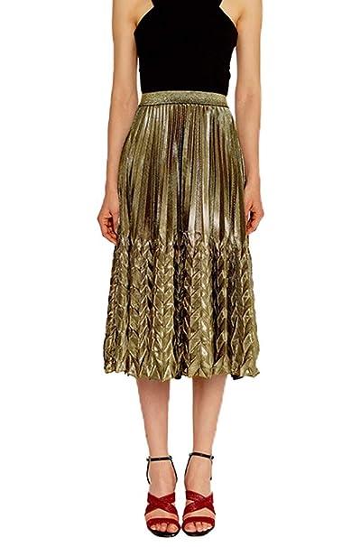ab26380a1 JURUAA Womens Summer High Waist Glitter Pleated Midi Skirt Elegant Fishtail  Skirt: Amazon.ca: Clothing & Accessories