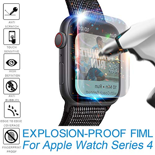 Compatible Apple Watch Series 4 Screen Protector (40mm), 2Pack Explosion-proof TPU Screen Protector Film, Anti-Scratch Scratch Resistant Scratch-Proof Screen Film Compatible Apple iWatch 40mm Series4