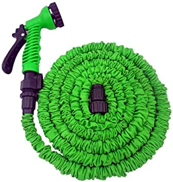 Manguera mágica elástica para jardín con pistola de riego, extensible hasta 3 veces su longitud original. 7,5 metros, color verde: Amazon.es: Bricolaje y herramientas