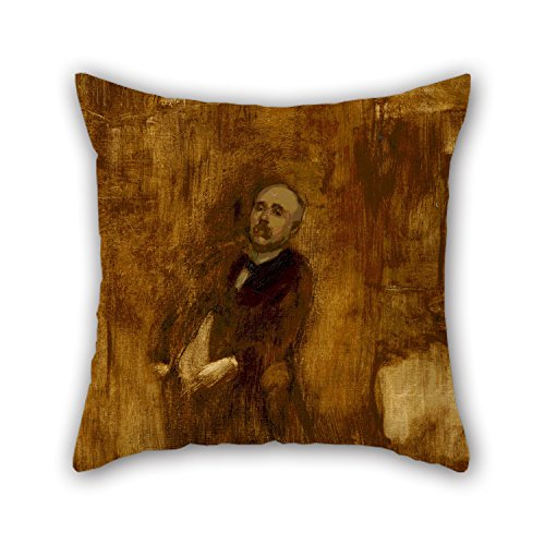 16 X 16 Inches / 40 By 40 Cm Oil Painting Eugène Carrière - Portrait Of Clemenceau Throw Pillow Case,2 Sides Is Fit For Dinning Room,lounge,saloon,club,chair,wedding -