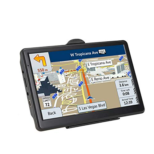 GPS Navigation for car, 7-inch HD 256-8GB Voice Broadcast Navigation, Top Loading North America map Contains (USA, Canada, Mexico Map) Lifetime Map Free Updates