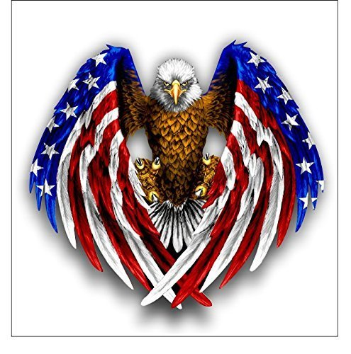 Bald Eagle American Flag sticker / decal