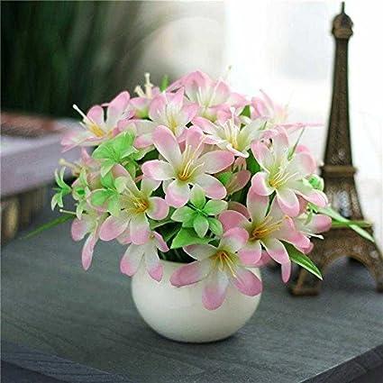 Jhyflower Flor de plástico artificial flor artificial conjunto adorno decoración sala de estar decoración hogar arreglo