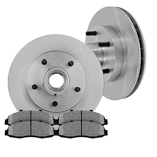 [ RWD ] FRONT 308 mm Premium OE 5 Lug [2] Brake Disc Rotors + [4] Metallic Brake Pads