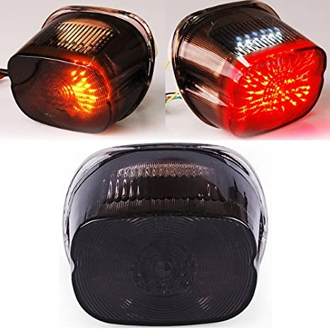 Smoked Tail ke Turn Signals Led Light For Harley Softail Sportster on