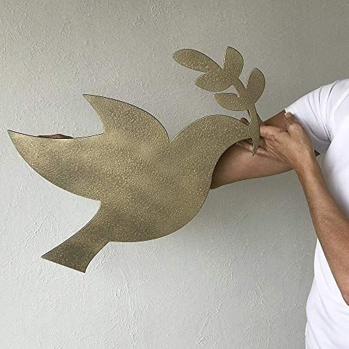 Peace Dove with Olive Branch - metal wall art home decor - Choose 11