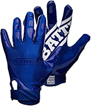Battle Double Threat Football Gloves – Ultra-Tack Sticky Palm Receivers Gloves – Pro-Style Receiver Gloves, Ad