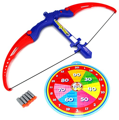 [Athletics Bow Children's Kid's Toy Bow and Suction Dart Playset w/ Suction Darts, Target] (Joe Child Costumes Gloves)