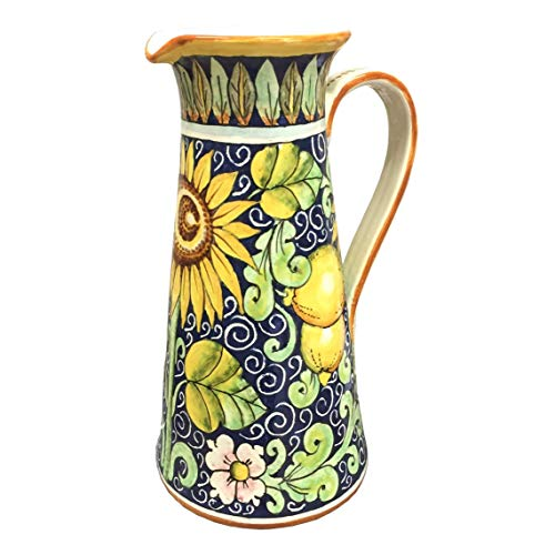 Painted Pottery Vase - CERAMICHE D'ARTE PARRINI - Italian Ceramic Art Pottery Vase Jar Vessel Pitcher Hand Painted Made in ITALY Tuscan