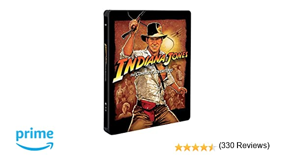 Indiana Jones Collection 1-4 Steelbook 5 Blu-Ray Italia Blu-ray: Amazon.es: Ford, Connery, Capshaw, Phoenix, Molina, Blanchett: Cine y Series TV