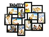 BestBuy Frames FAMILY Title Collage Picture Frame with 12 Openings for 4-Inch-by-6-Inch Photos