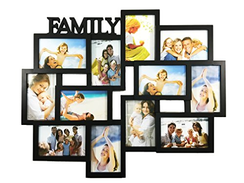 Y Title Collage Picture Frame with 12 Openings for 4-Inch-by-6-Inch Photos ()