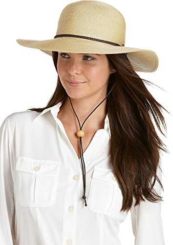 Coolibar UPF 50+ Women's SmartStraw Sedona Sun Hat (One Size - Natural)