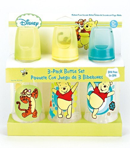 Winnie The Pooh Three Pack Deluxe Baby Bottle Set]()