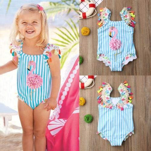 Toddler Kids Baby Girls One Piece Swimsuit Floral Tassel