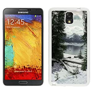 New Custom Designed Cover Case For Samsung Galaxy Note 3 N900A N900V N900P N900T With Lakeside Snow Nature Mobile Wallpaper (2) Phone Case