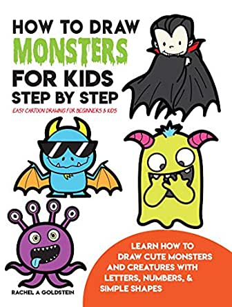 How To Draw Monsters For Kids Step By Step Easy Cartoon Drawing