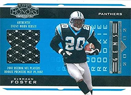 new arrival 09cdc 2796d DeShaun Foster player worn jersey patch football card ...
