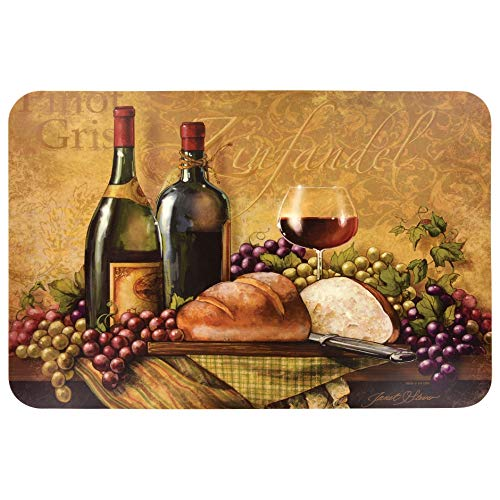 Set of 4 Greenbrier international inc 15332 Wine Themed Plastic Placemats