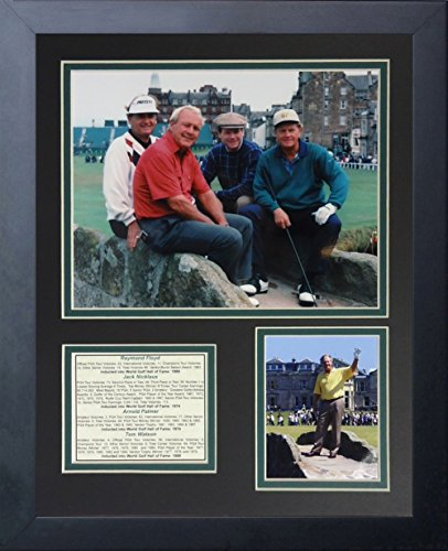 """Legends Never Die """"Raymond Floyd, Jack Nicklaus, Arnold Palmer and Tom Watson Framed Photo Collage, 11 x 14-Inch"""