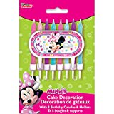Minnie Mouse Cake Topper & Birthday Candle Set