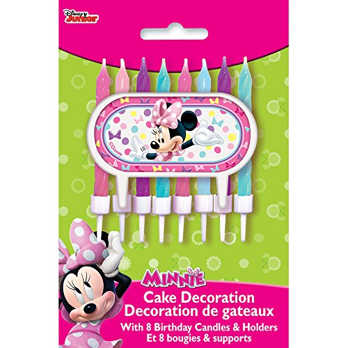 Minnie Mouse Cake Topper & Birthday Candle -
