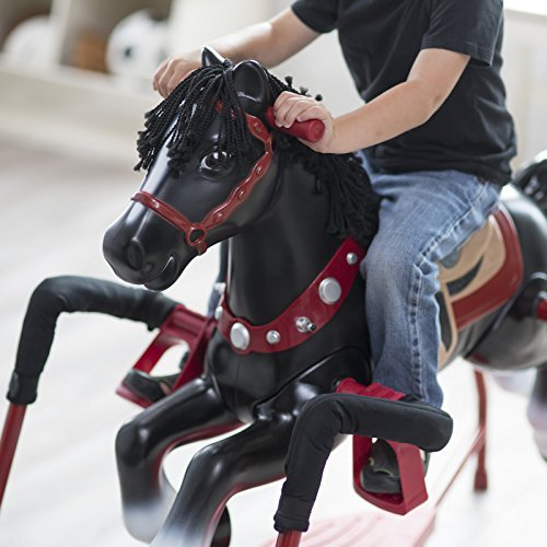 Radio Flyer Duke Interactive Riding Horse, 36 x 41 x 21 (Black/Red)