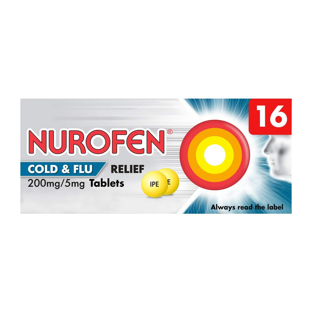 Nurofen Cold and Flu Tablets Ibuprofen, Pack of 16