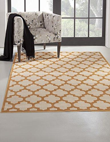 - Abacasa Sonoma Trellis Tangerine/Ivory Area Rug