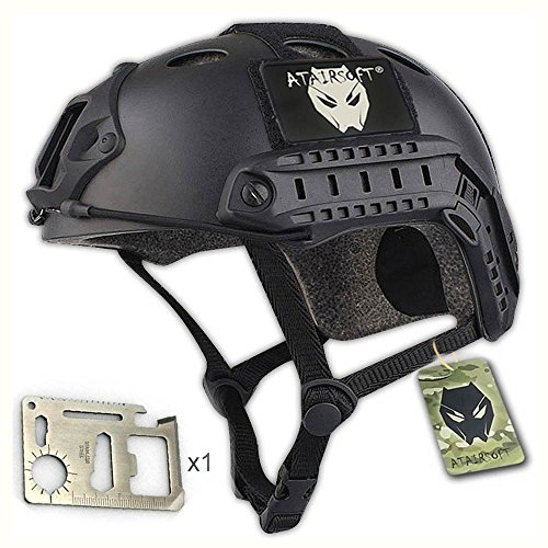 ATAirsoft PJ Type Tactical Fast Helmet Low Price Version Black by ATAIRSOFT