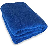 Goza Towels %100 Cotton Oversized Bath Sheet Towel (40 x 70 inches) (Royal Blue)