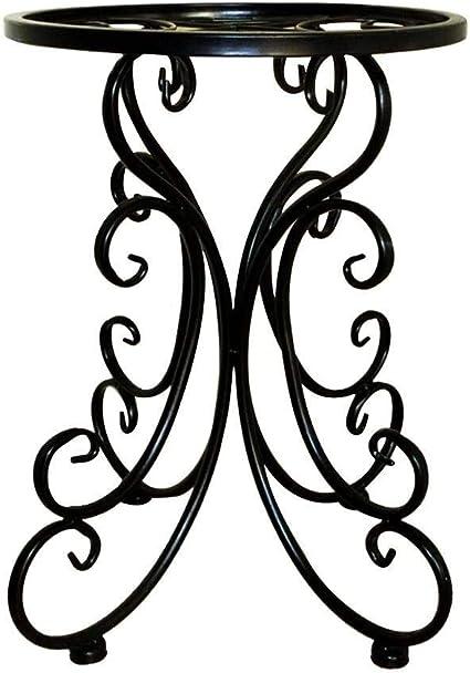 Supporto per fiori Supporto for piante Balcone interno Singolo Idee for fiori in ferro battuto Sgabello rotondo Scaffale for fiori Durevole pavimento Vaso for fiori Supporto for piante Display for d