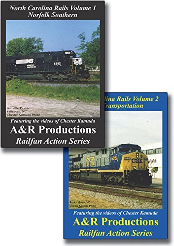 North Carolina Rails NS & CSX - 2 DVD Set