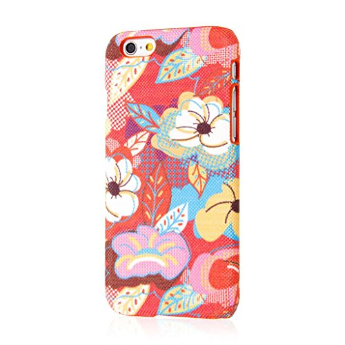 Empire Signature Series iPhone 6/6S Slim Fit Phone Case - Raised Accented Edges, Diamond Knit Fabric - Vintage Pink Flower Pop