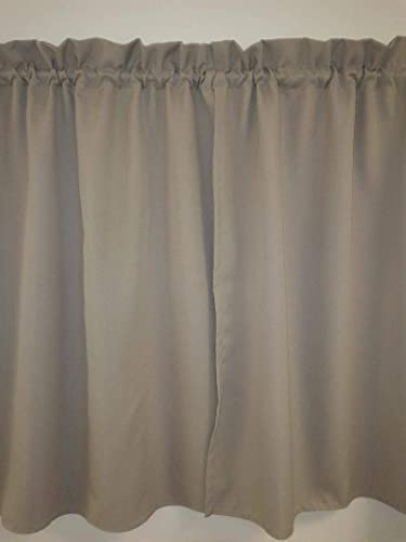 Amazon Solid Taupe Curtain 48 PanelsTiers Cafe Style New Kitchen And Bath Design Schools Style