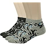QualiMaker Men's Casual Ankle Length Lifestyle Comfy Low Cut Socks 3 or 4 Piars