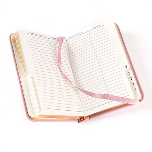 Sleek Gilded Edge Premium Address Book (PINK)