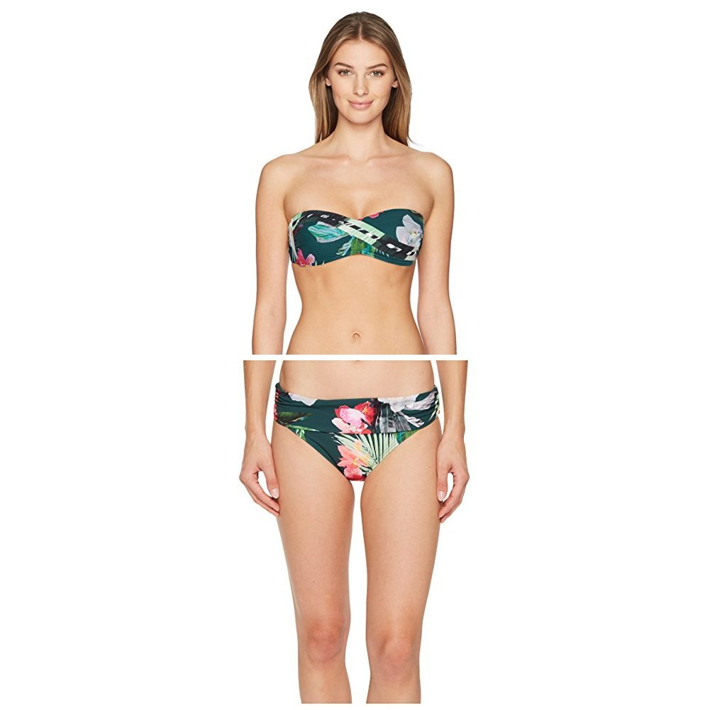 c502205a58242 Amazon.com: La Blanca Women's Beyond the Jungle Two Piece Bandeau Top &  Hipster Bottom Bikini Set: Clothing