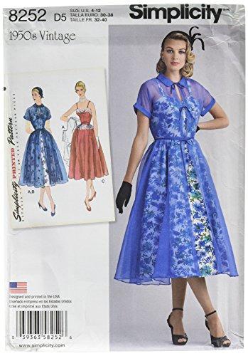 50s dress pattern easy - 3
