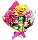キャンディブーケ かわいい チュッパチャプス 花束 ピアノ バレエ 発表会 プレゼント (ピンク)