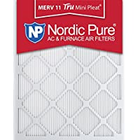 Nordic Pure 8x20x1M11MiniPleat-3 Tru Mini Pleat MERV 11 AC Furnace Air Filters (3 Pack), 8 x 20 x 1