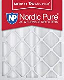 Nordic Pure 18x20x1M11MiniPleat-6 Mini Pleat MERV 11 AC Furnace Air Filters, 18-Inch x 20-Inch x 1-Inch, 6-Pack