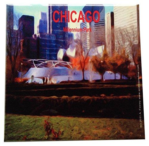 Scene Ceramic - Chicago Scene Decorative Ceramic Wall Art Tile 6