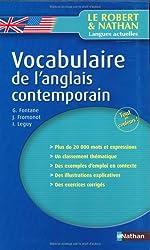 Vocabulaire de l'anglais contemporain